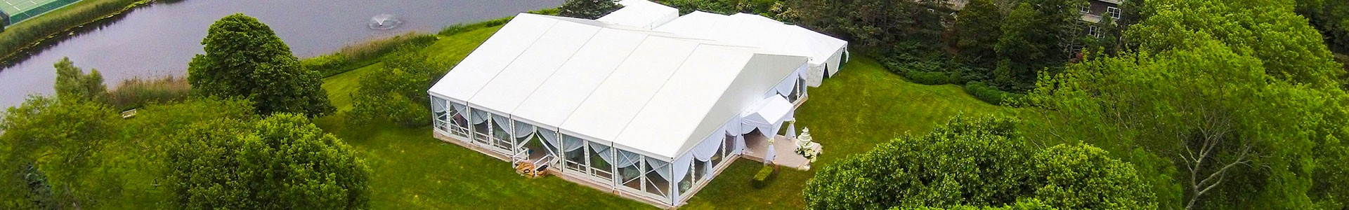 Clearspan Structure Tent Aerial