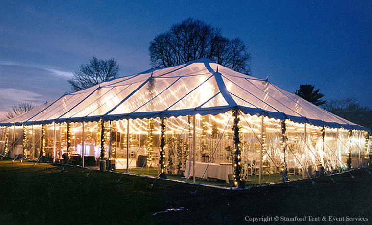 Clear Holiday Party Tent