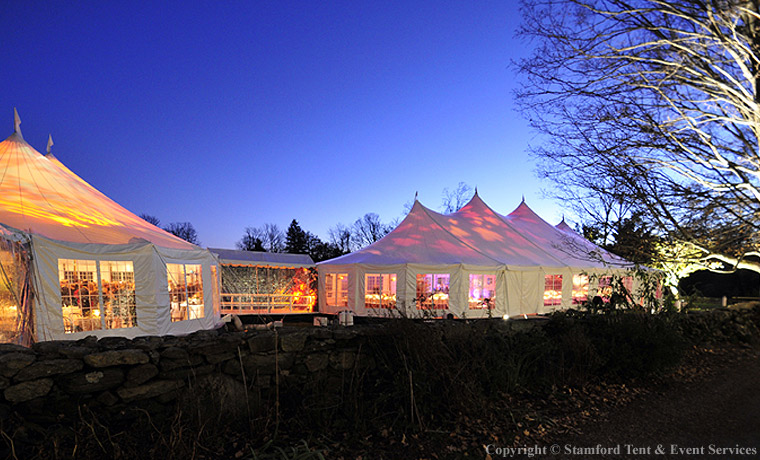 Lighted Sail Cloth Tents