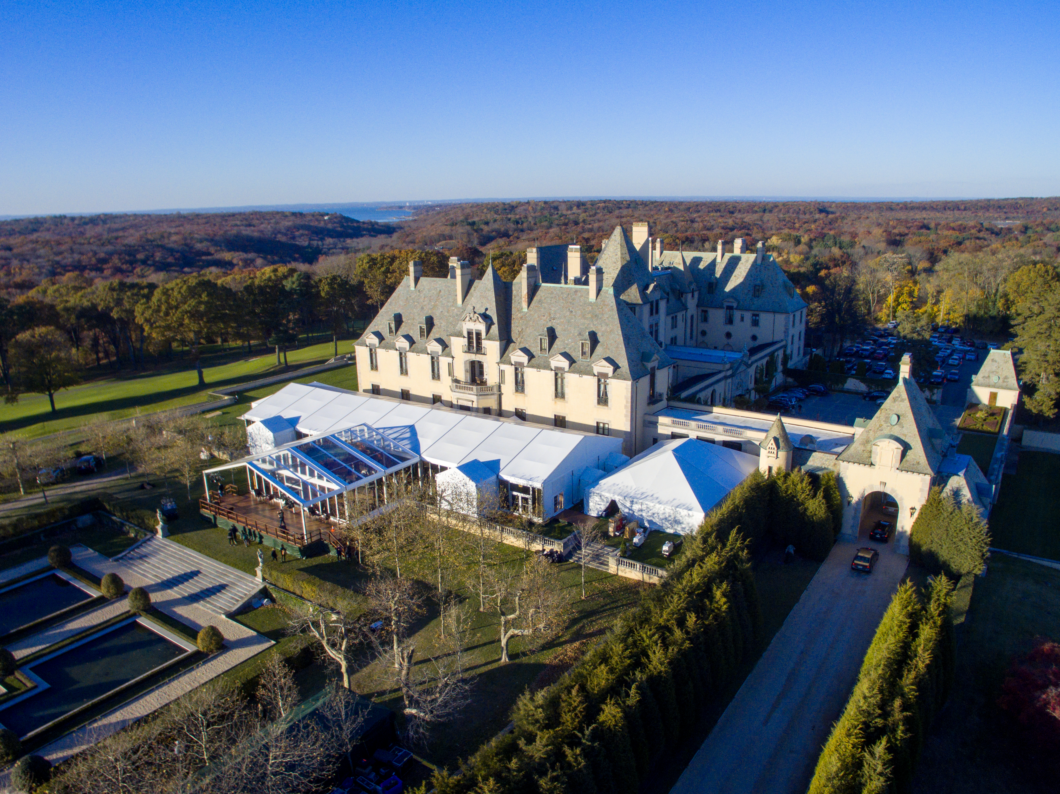 Luxury Wedding Tent at Oheka Castle