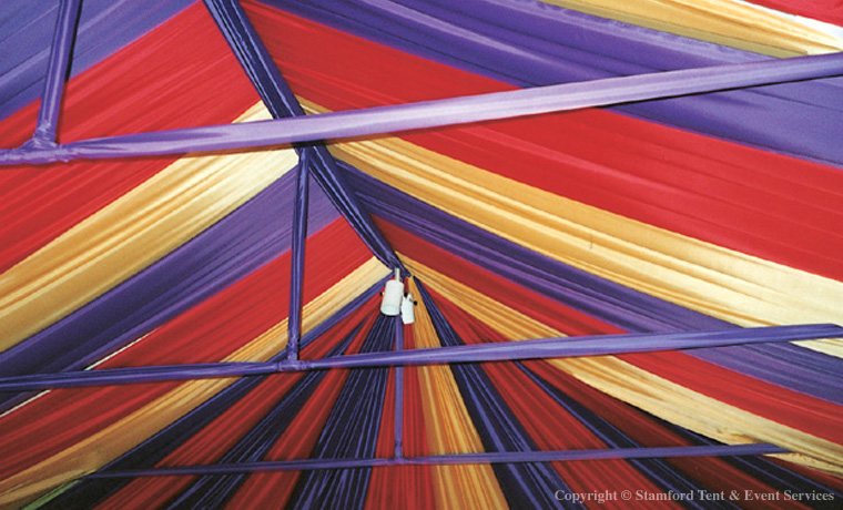 Colorful Fabric Tent Ceiling