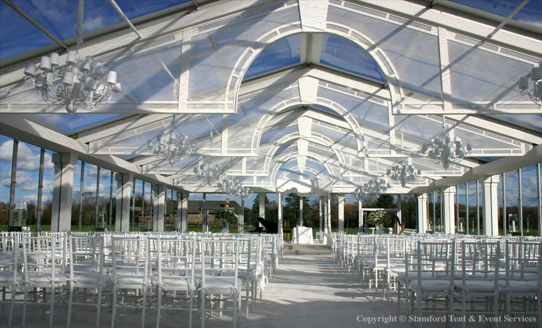 Clear White Tent Outdoor Accents