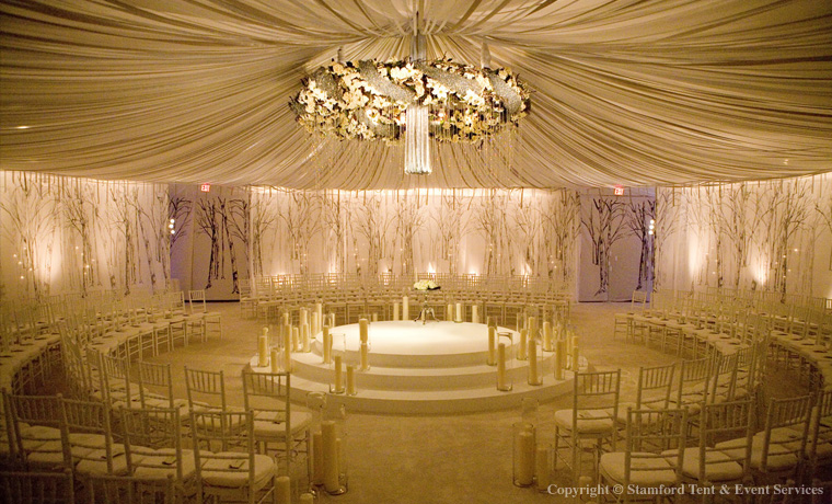Beautiful Circular Tent Designed Accents