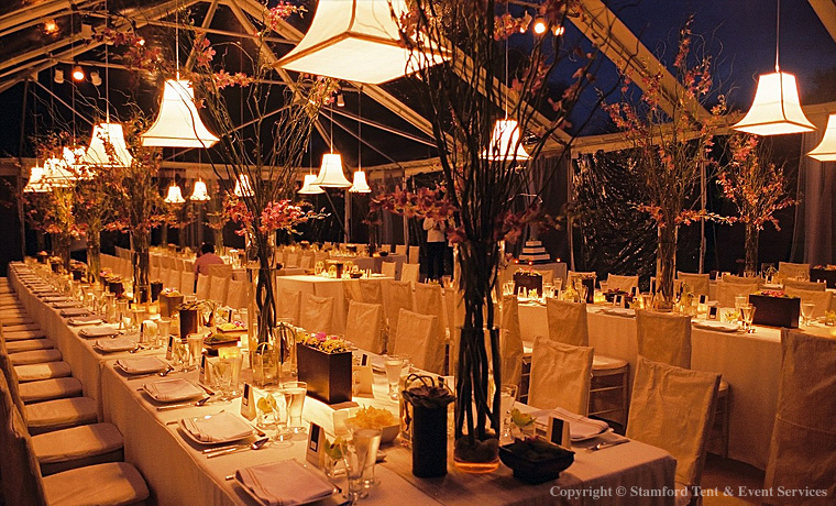 Tent Decor Intimate Lighting with Accent Pieces