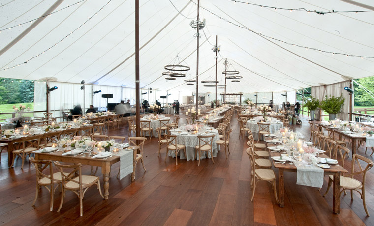 Luxurious Wedding Hardwood Tent Floor