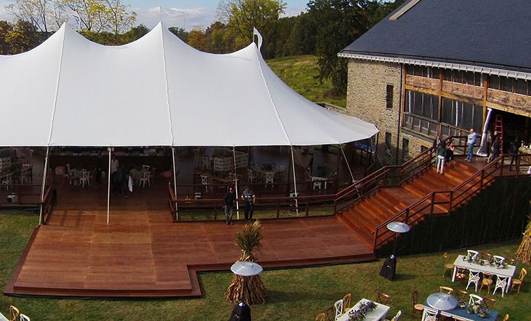 Tent Flooring with Steps