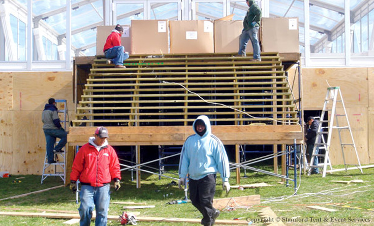 Tent Rental Stairs Structure