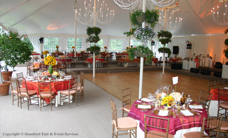 Beautiful Stamford Tent Installed Flooring