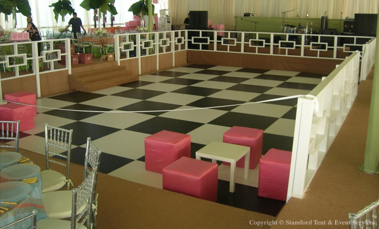Tent Rental Checkered Flooring