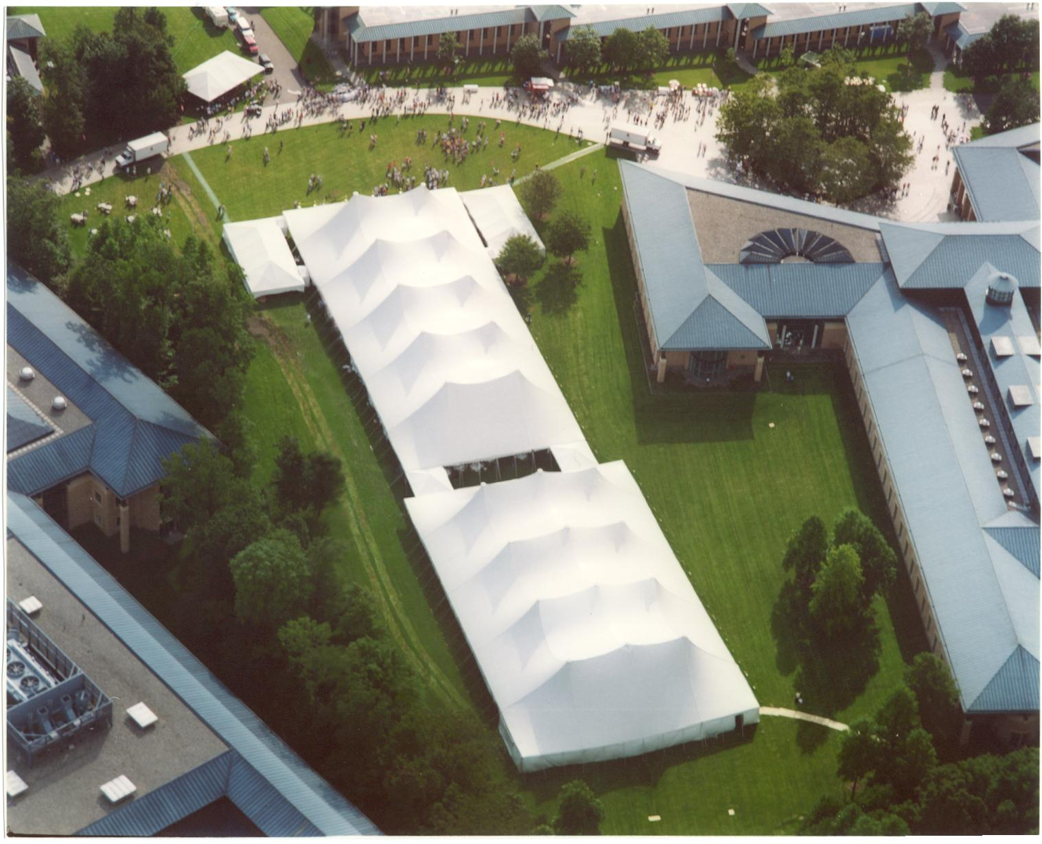 Aerial View of a Corporate Tent