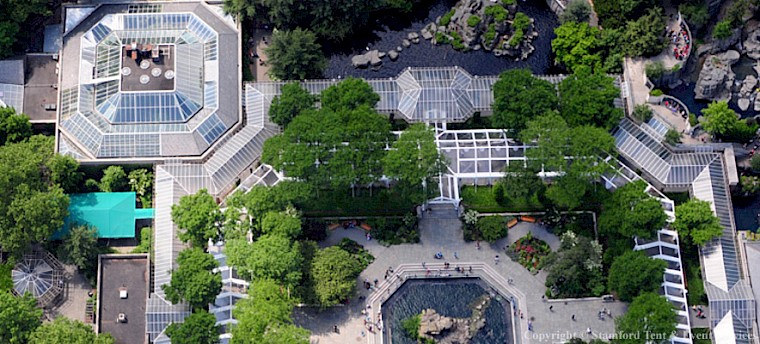 Aerial View of Custom Zoo Tent