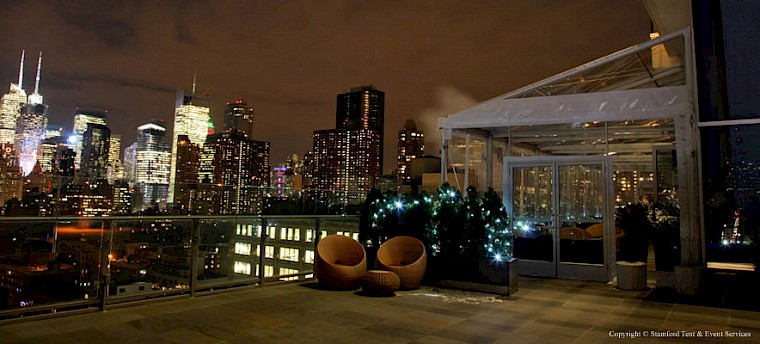 manhattan rooftop party tents