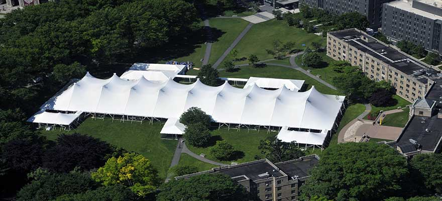 large corporate tent