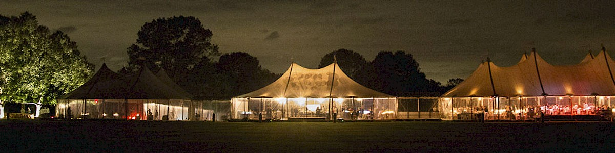 Spinnaker Sailcloth Tent at Night